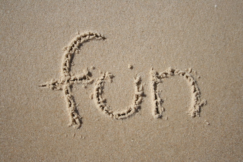 Fun in the sand stock photography