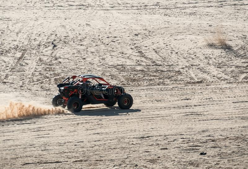 Off road vehicle, Imperial Sand Dunes royalty free stock images