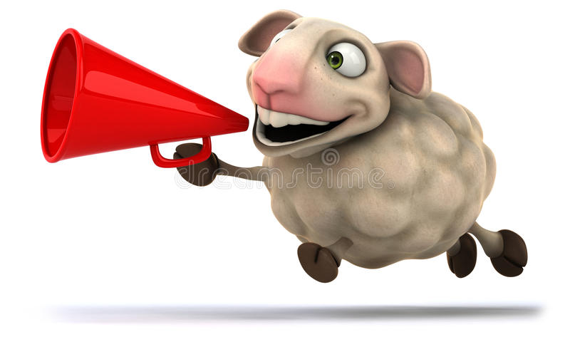Fun sheep vector illustration