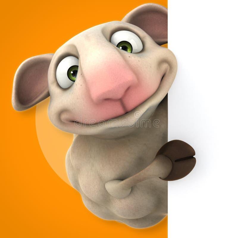 Fun sheep stock illustration