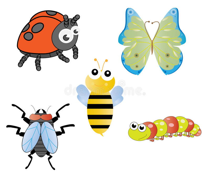 Fun and Silly Insects royalty free illustration