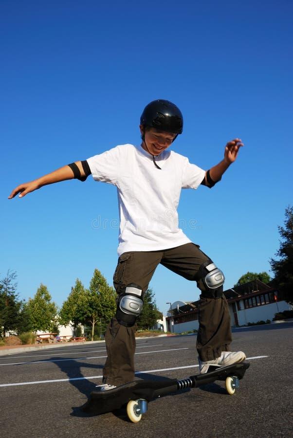 Fun on Skateboard stock image