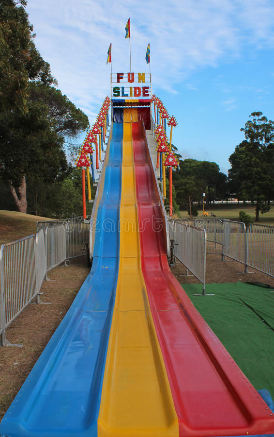 Free Fun Slide Ride At Outdoor Carnival Stock Photography - 28983742