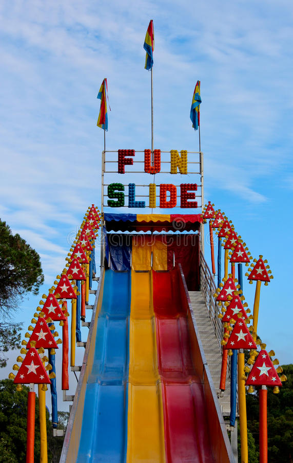 Free Fun Slide Ride At Outdoor Carnival Royalty Free Stock Photography - 51124787