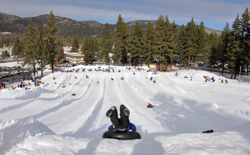 Download Fun in the snow stock photo. Image of sledge, play, season - 18163252