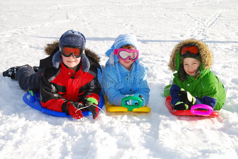 Download Fun in Snow stock photo. Image of playing, close, pleased - 4080060