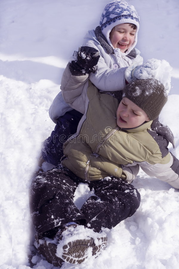 Download Fun on snow stock photo. Image of child, young, love, together - 556678