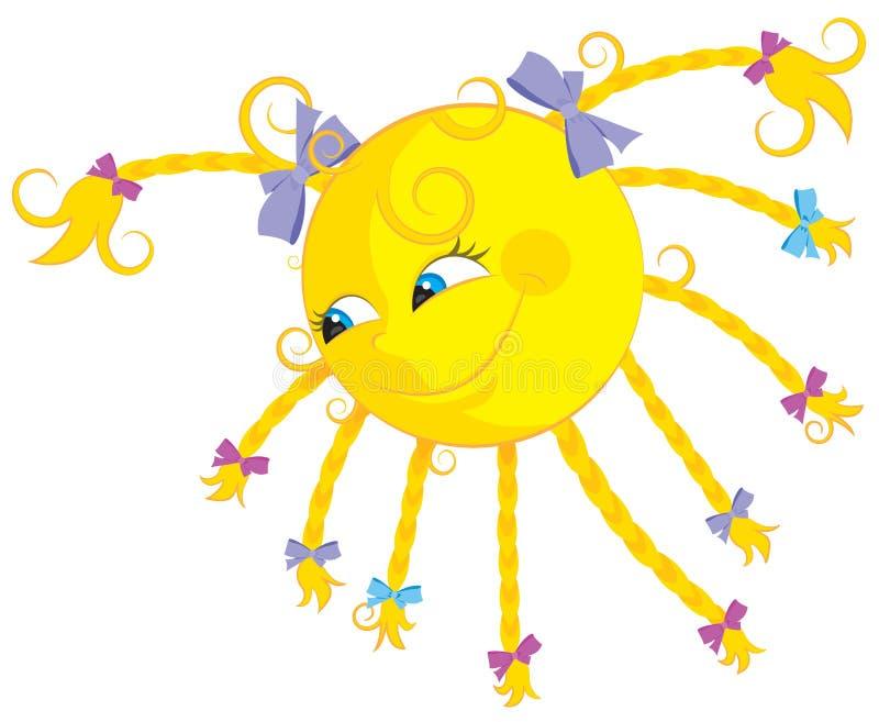 Download Fun sun stock vector. Image of braids, star, vector, cartoon - 19536044