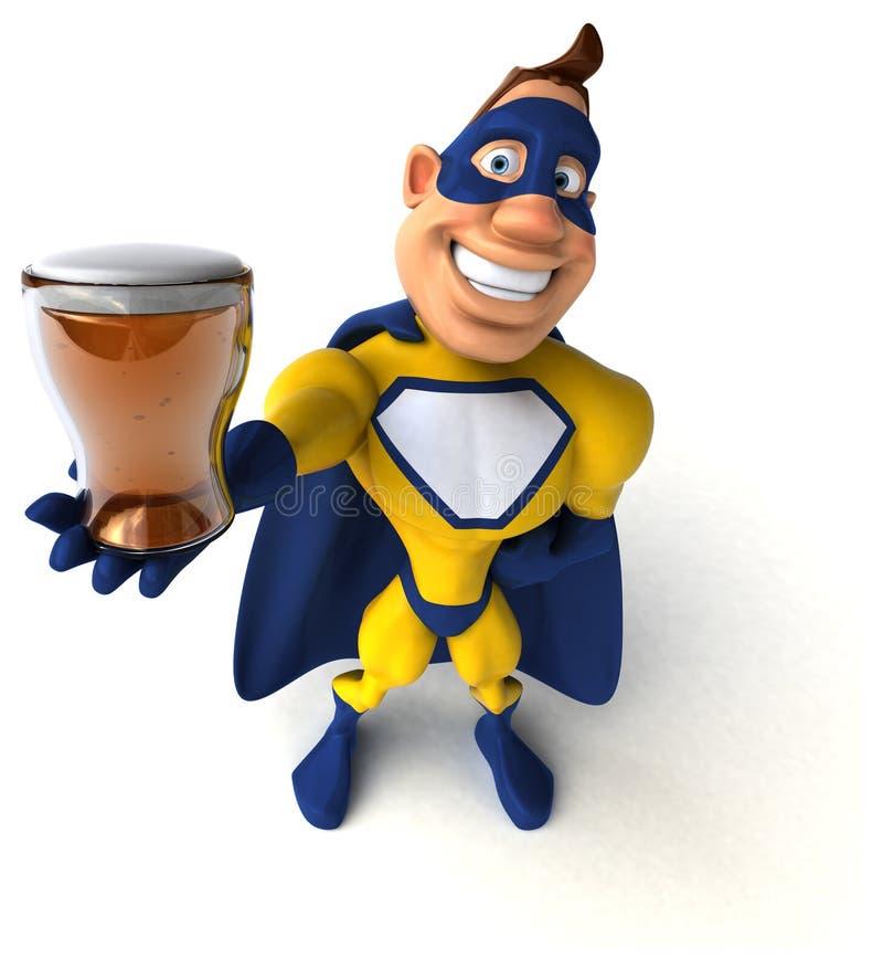 Fun superhero royalty free illustration
