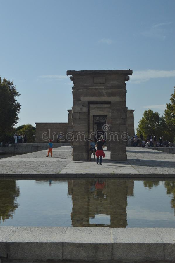 Fun Temple Of Debod In Egyptian Style In Madrid. Architecture, History, Travel. October 18, 2014. Madrid, Spain stock images