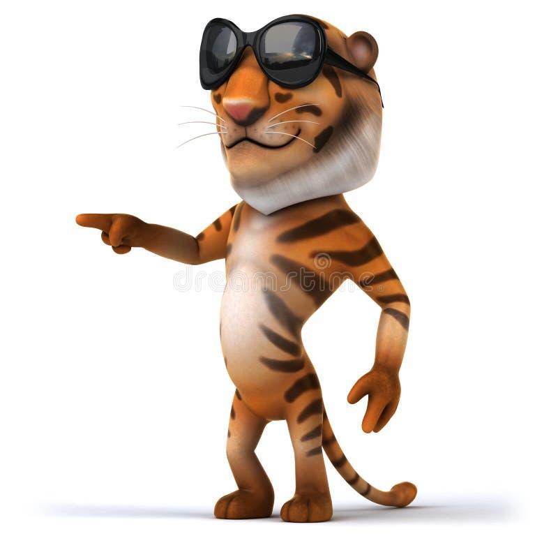 Fun tiger stock illustration