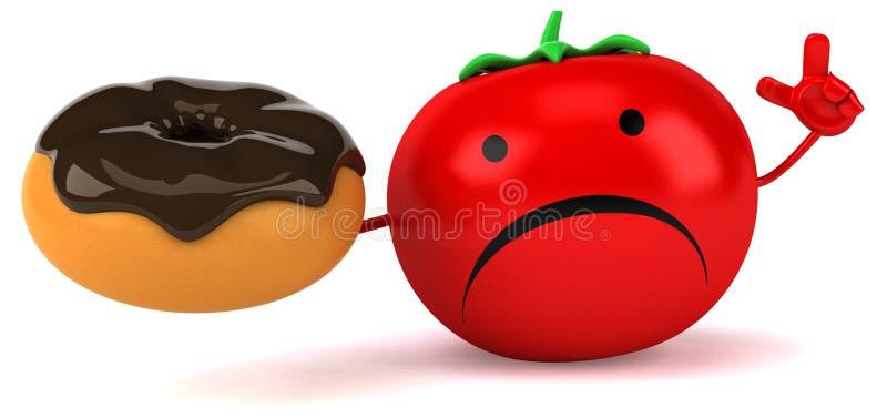 Fun tomato royalty free illustration