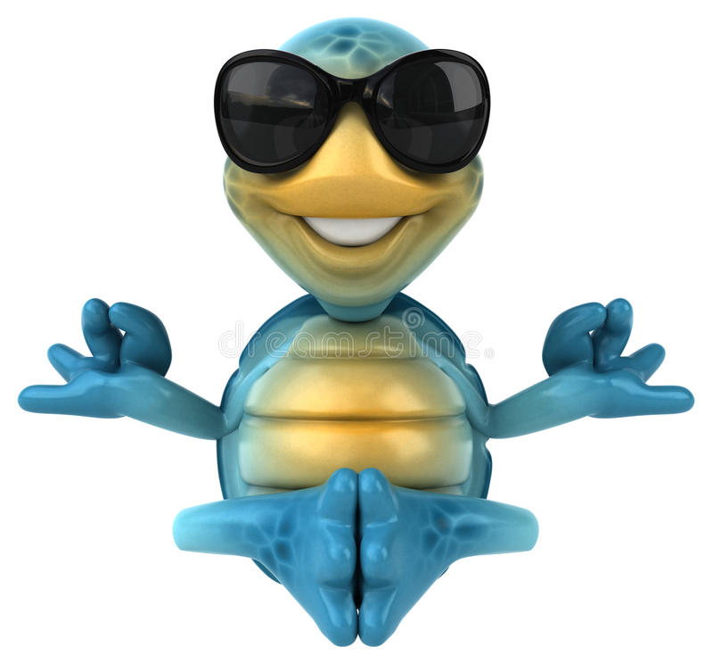 Fun turtle royalty free illustration