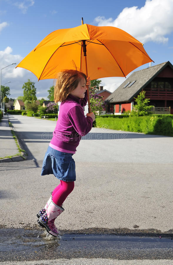 Download Fun With Umbrella Royalty Free Stock Images - Image: 14730519