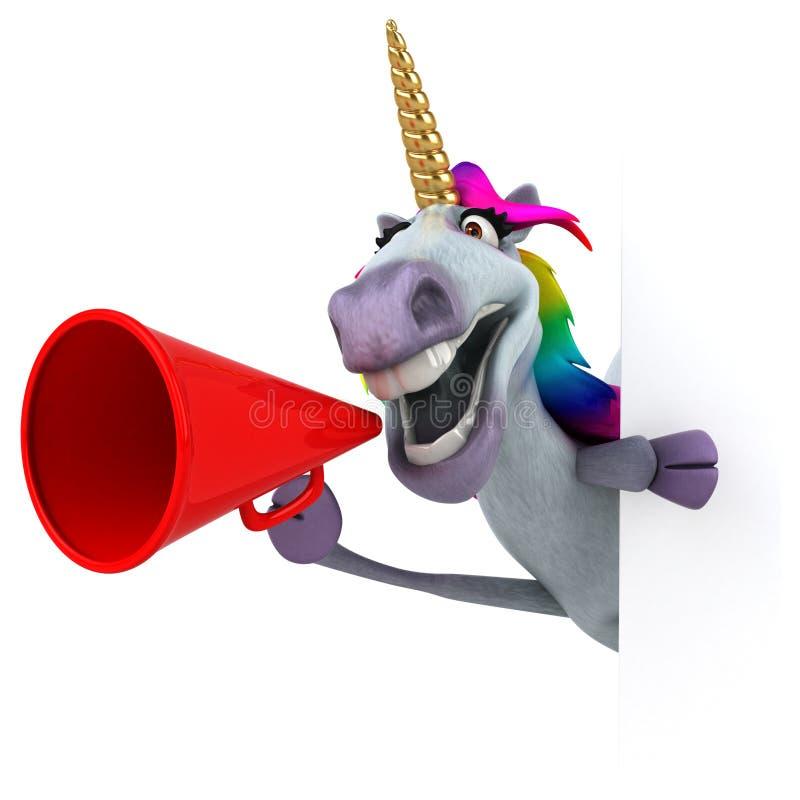 Fun unicorn - 3D Illustration royalty free illustration