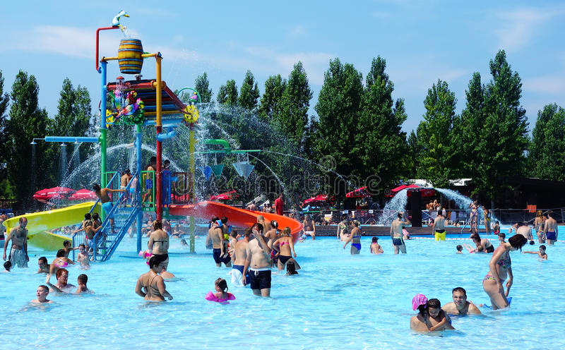 Download Fun at Water Park editorial stock photo. Image of waterpark - 32362173