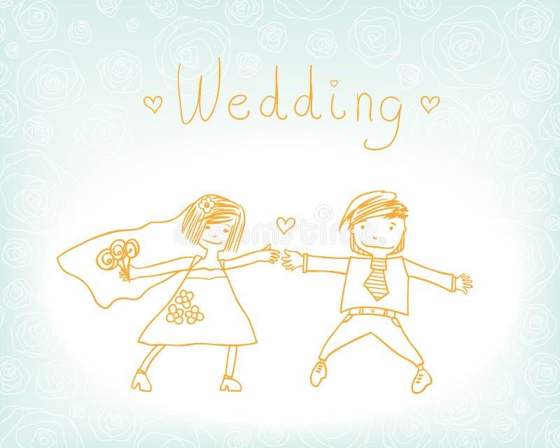 Fun Wedding Stock Photo