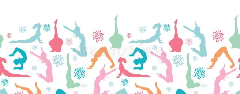 Download Fun Workout Fitness Girls Horizontal Seamless Stock Vector - Image: 32492136