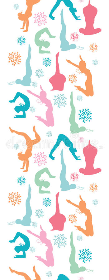 Download Fun Workout Fitness Girls Vertical Seamless Stock Vector - Image: 32492198
