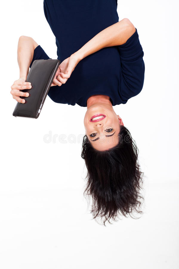 Download Tablet upside down stock image. Image of hanging, casual - 30274341