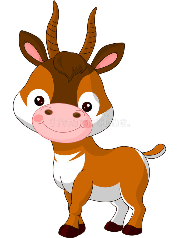 Fun zoo. Antelope royalty free illustration