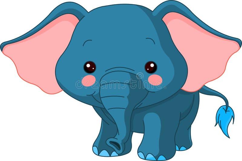Fun zoo. Elephant vector illustration