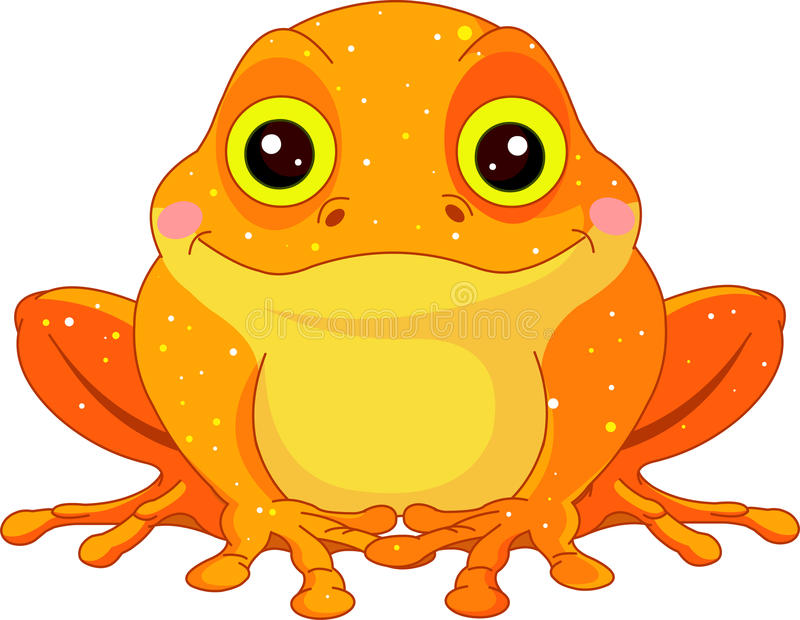 Fun zoo. Golden Toad vector illustration