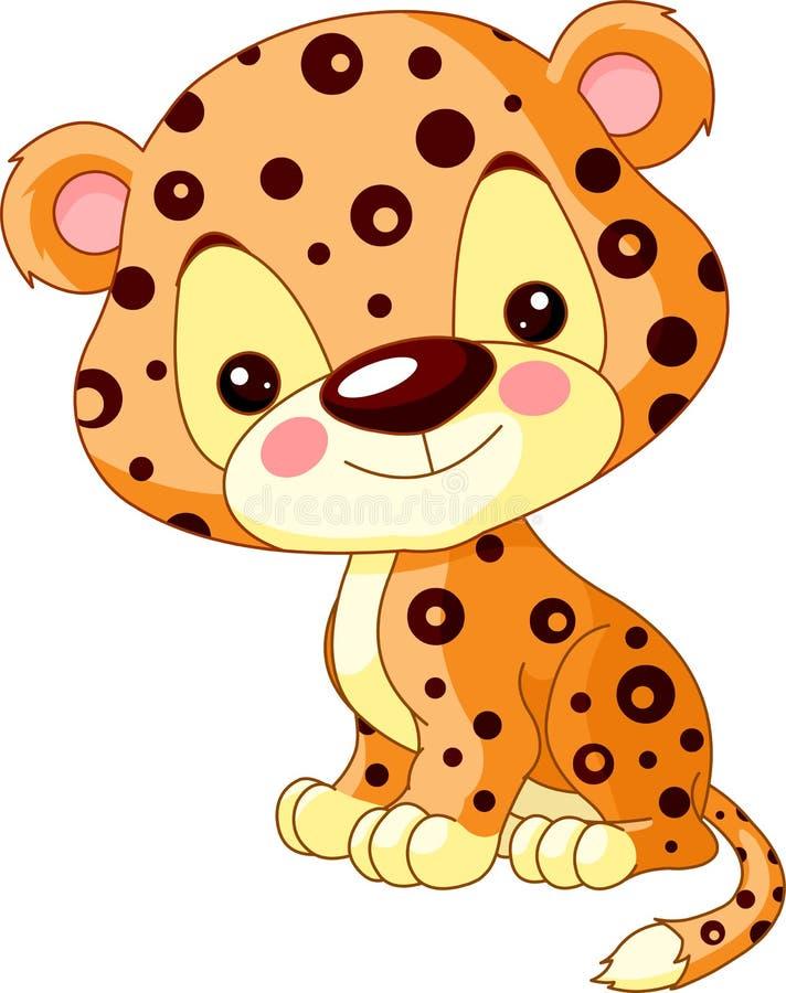Fun zoo. Jaguar royalty free illustration