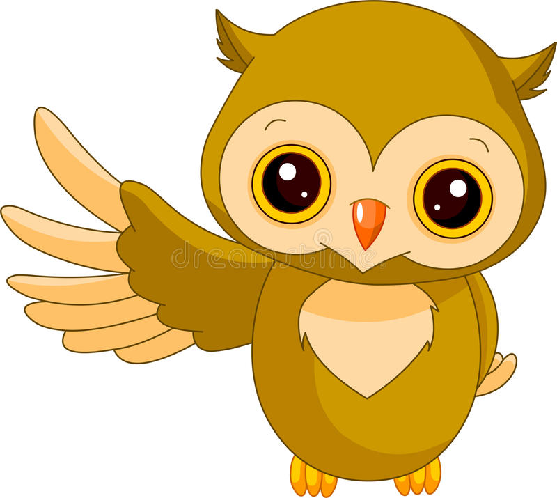 Fun Zoo. Owl Stock Photos