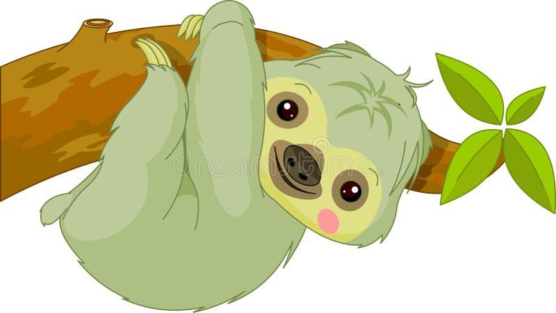 Fun zoo. Sloth. Fun zoo. Illustration of cute Sloth vector illustration