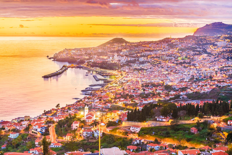 Funchal – Madeira island, Portugal. Panoramic view over Funchal – Madeira island, Portugal stock images
