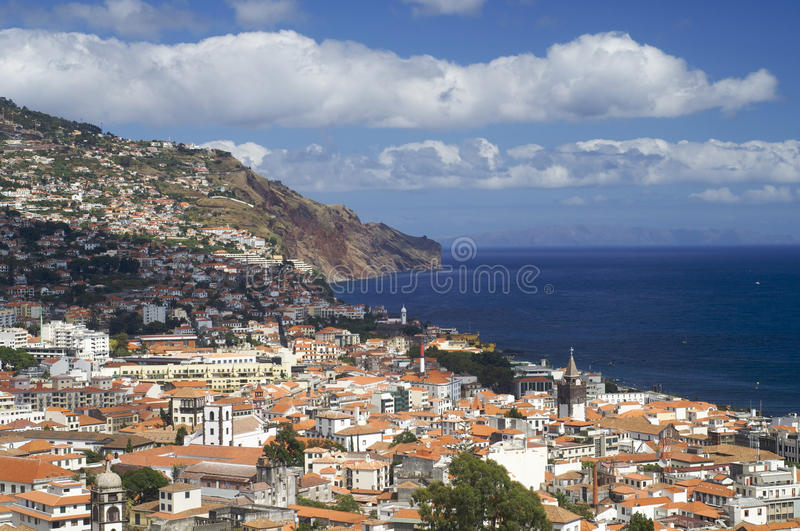 Funchal. View of Funchal, capital of the island of madeira, Portugal royalty free stock photography