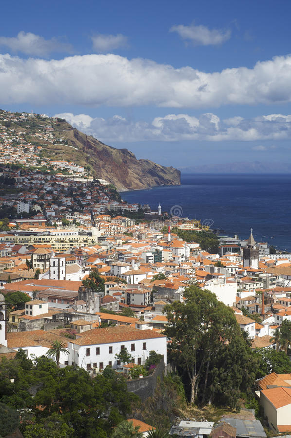 Funchal. View of Funchal, capital of the island of madeira, Portugal stock photo