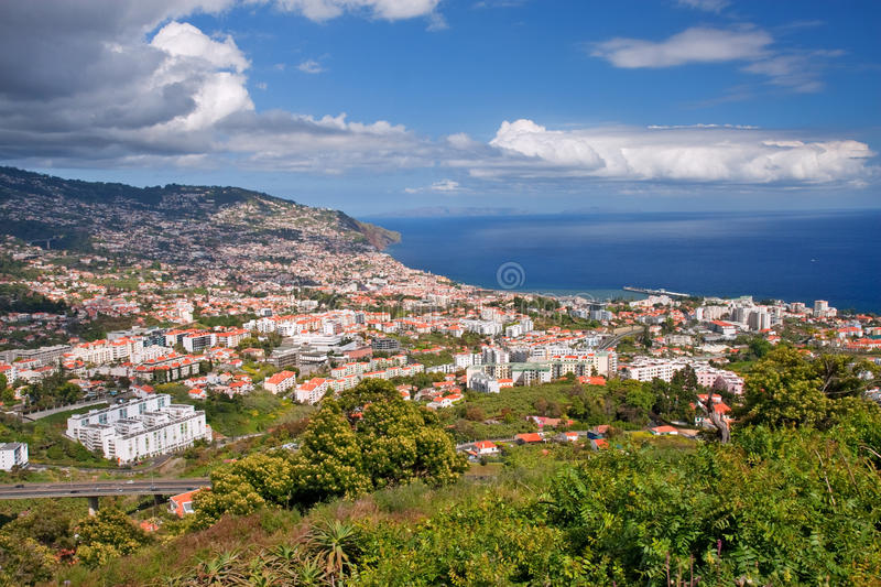 Funchal. Overall view of funchal on madeira island, portugal stock photos