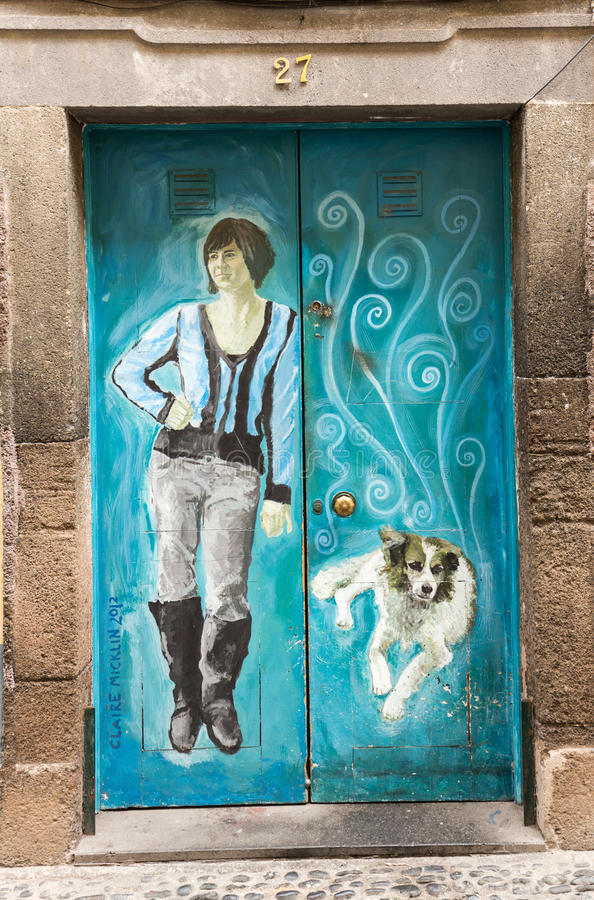 Funchal - the art of open door in the street of Santa Maria. A project which aims to `open` the city to artistic and cultural eve. Nts. Madeira, Portugal stock photo