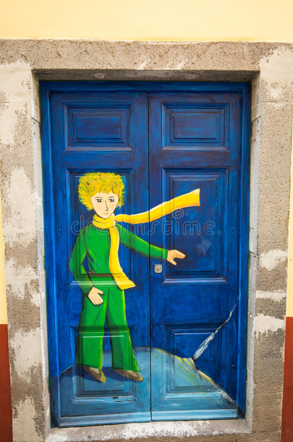 Funchal - the art of open door in the street of Santa Maria. A project which aims to `open` the city to artistic and cultural eve. Nts stock image