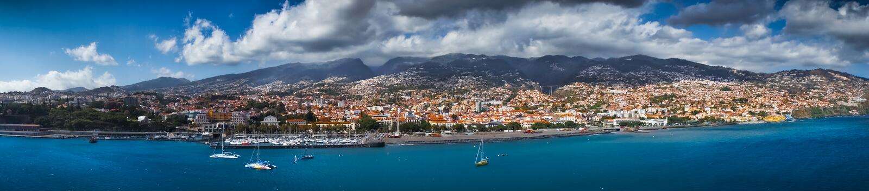 Funchal capital city of Madeira royalty free stock photo