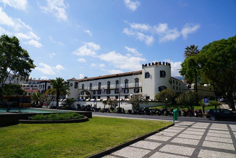 Funchal i madeirastadssikt arkivbilder