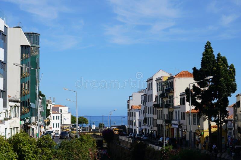 Funchal i madeirastadssikt arkivbild