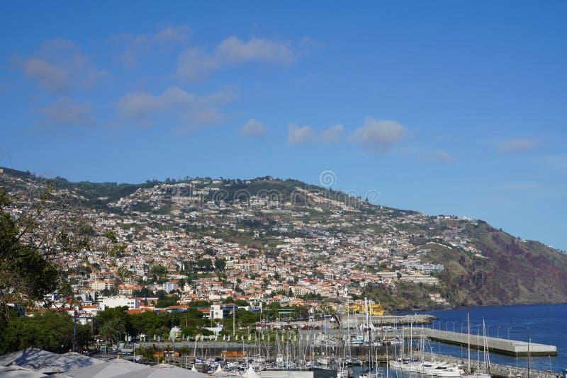 Funchal i madeirastadssikt arkivfoton