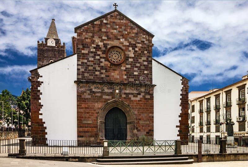 Funchal Katedralny kościół, madery wyspa, Portugalia obraz royalty free