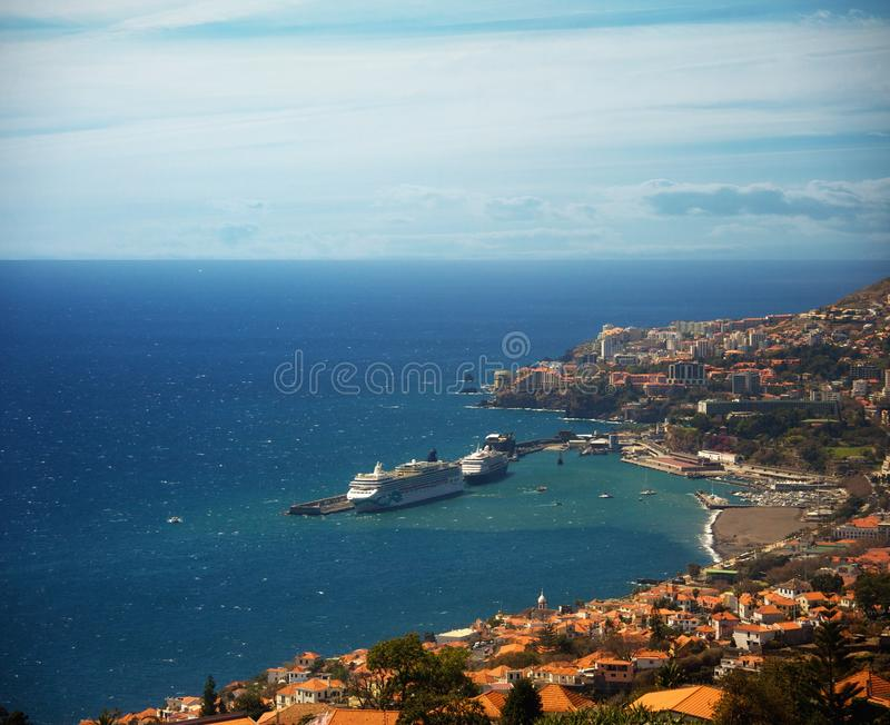 Funchal, Madeira. Picture of a Funchal city view, Madeira stock image