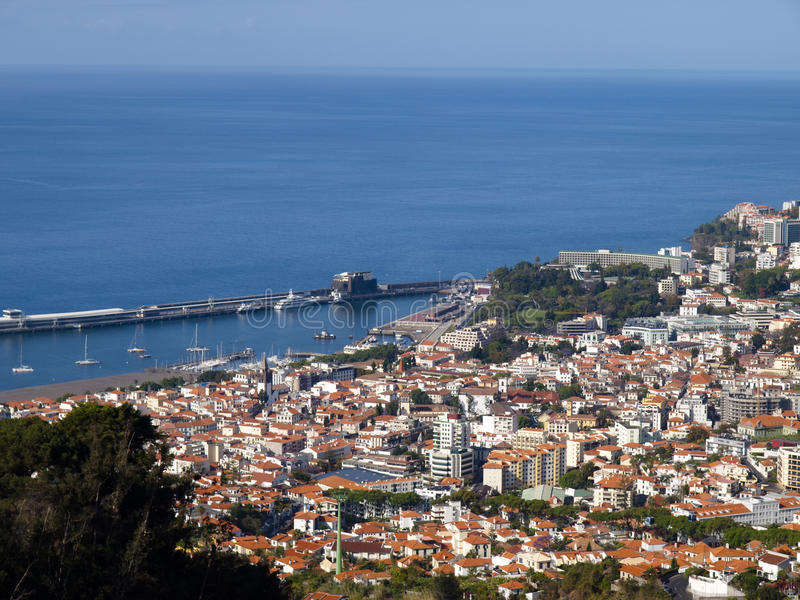 Funchal - Madeira. Panorama of the city of Funchal, Madeira stock images