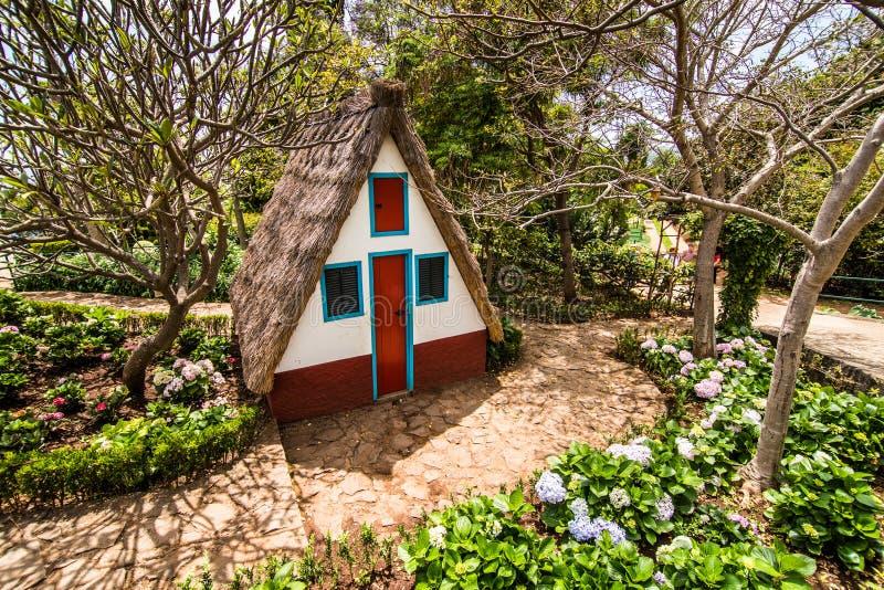 Funchal, Madeira - julio de 2018 Casa tradicional en Madeira, Portugal fotos de archivo libres de regalías