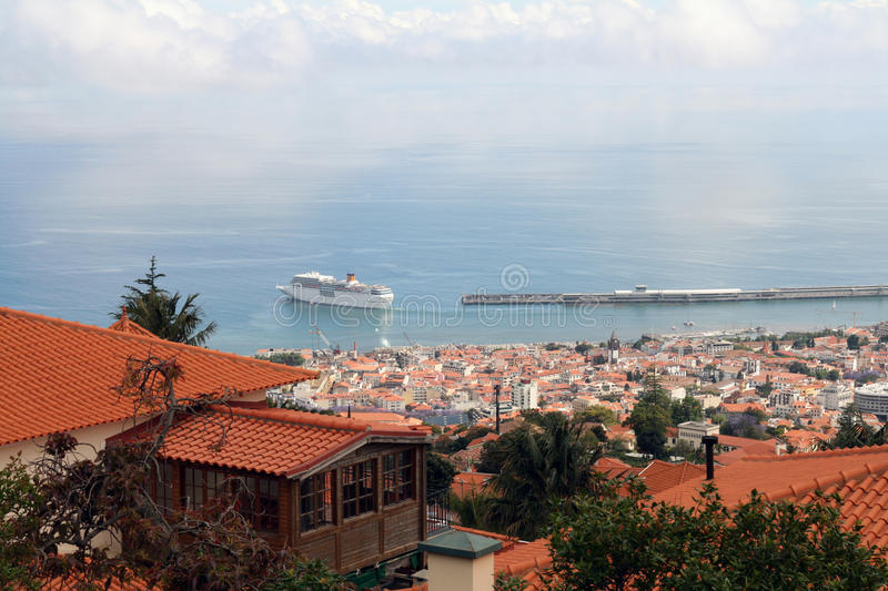 Funchal, Madeira. Picture of a Funchal city view, Madeira stock images