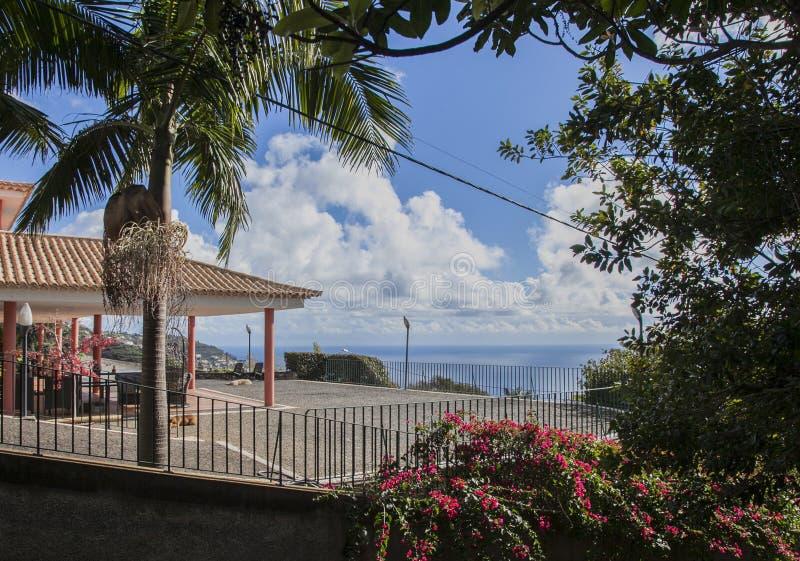 Funchal, Madeira, Portugal - ein sonniger Tag im botanischen Garten stockfoto