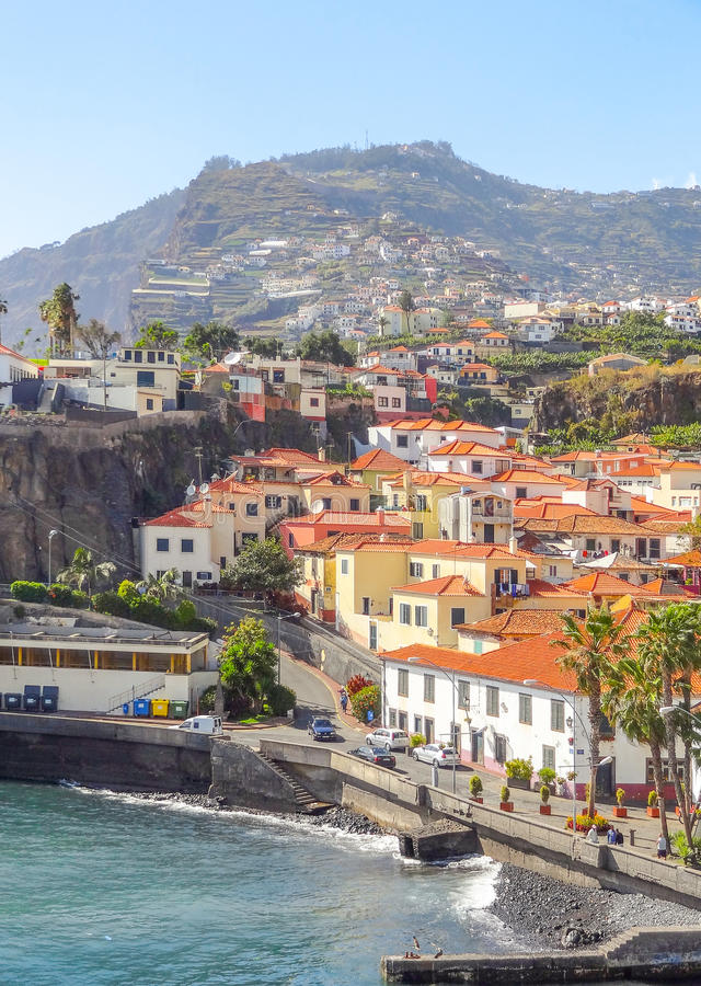 Funchal in Madeira. Scenery around Funchal, a city of the portuguese island named Madeira royalty free stock image