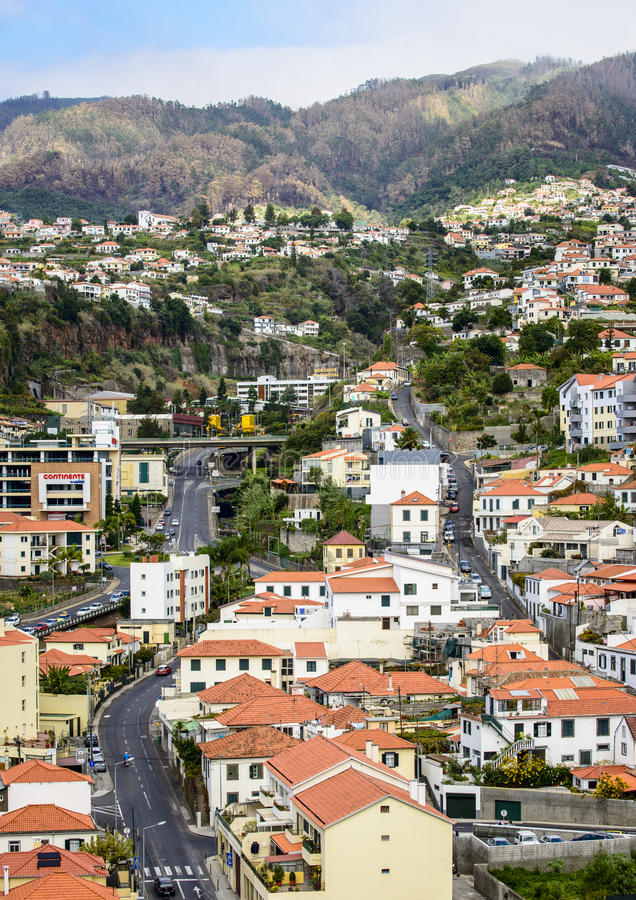 Funchal in Madeira. A view of Funchal in Madeira stock photo
