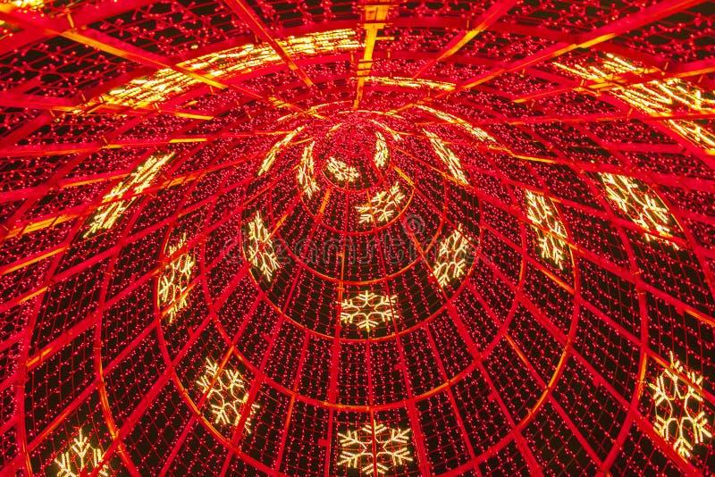 Funchal, Madera, Portugal - rode Kerstboom royalty-vrije stock fotografie