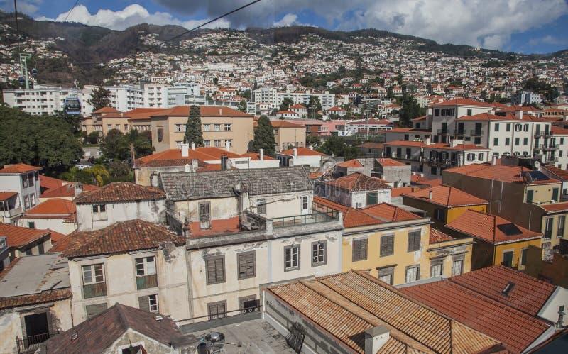Funchal, madera, Portugalia, Europa - stary miasteczko na słonecznym dniu zdjęcia stock
